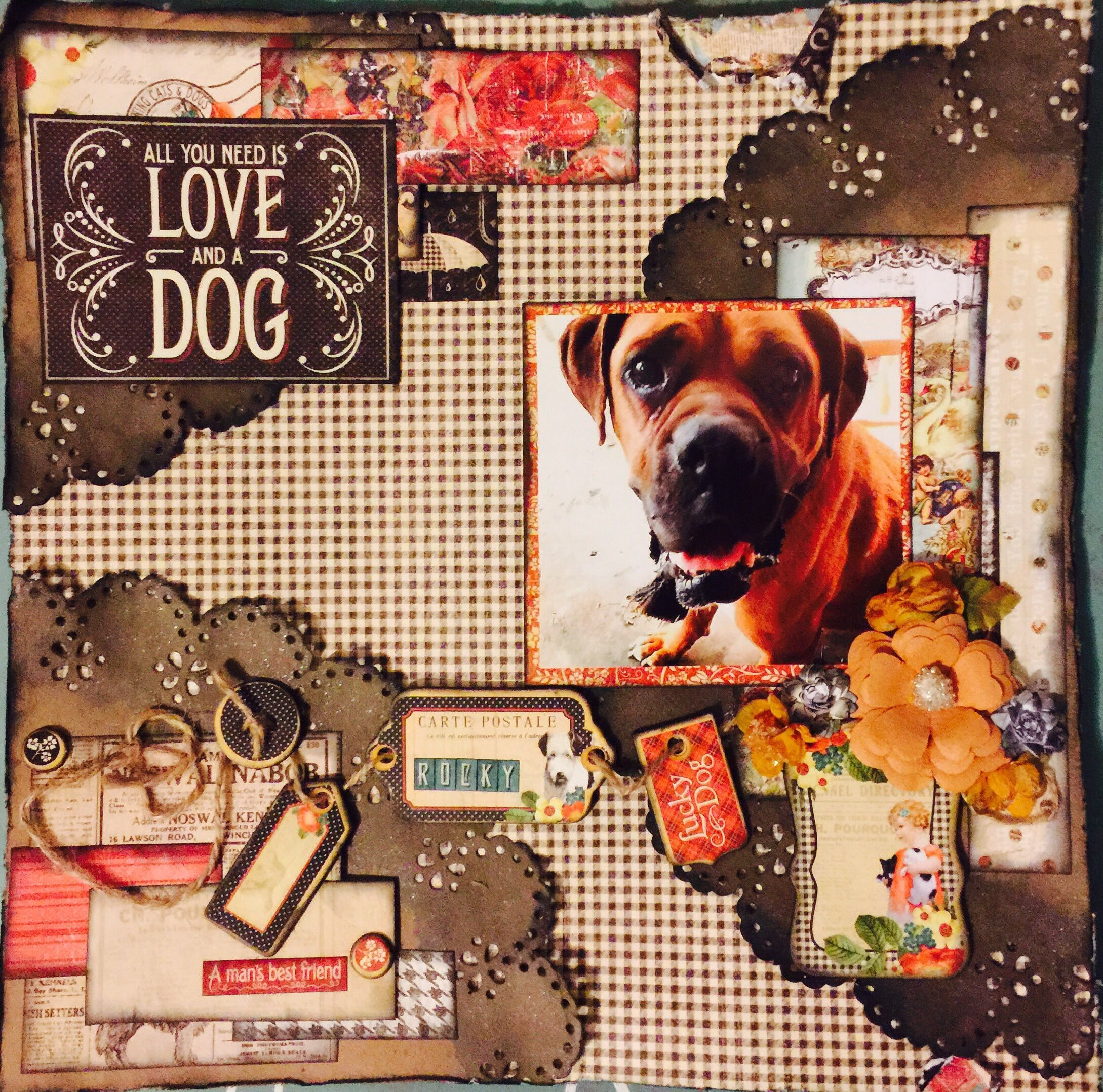 Pin by Monique Fox on #Pets | Dog scrapbook, Scrapbook ...