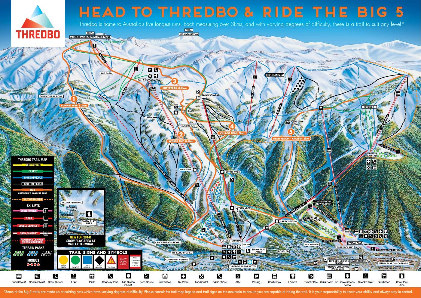 Thredbo Village And Ski Resort Is In The Snowy Mountains Of