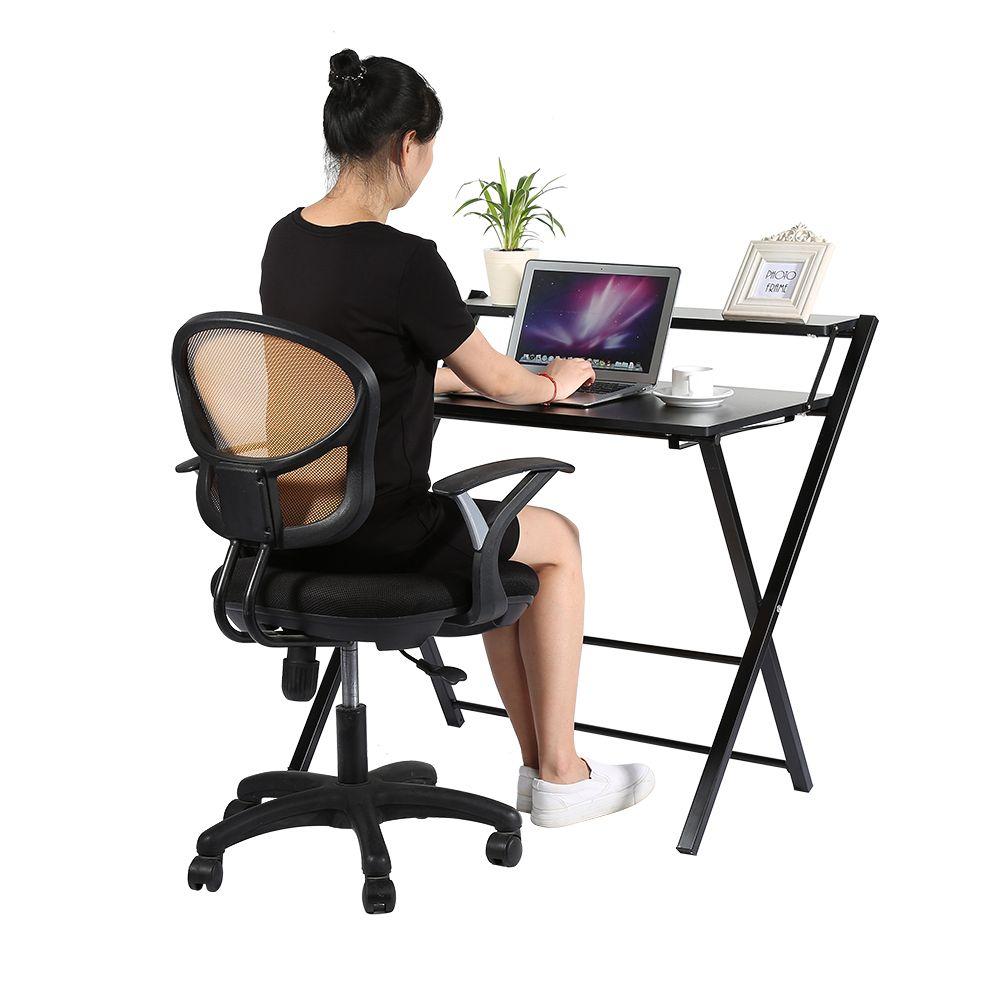 Madera Moderno Escritorio De La Computadora Mesa Plegable Muebles  # Muebles Ergonomicos Para Computadora