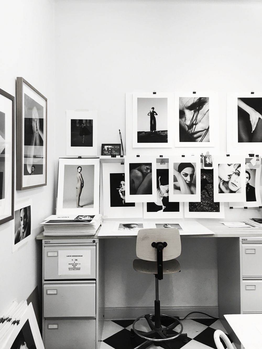 Creative space. In the office of photographer Tobias Regell