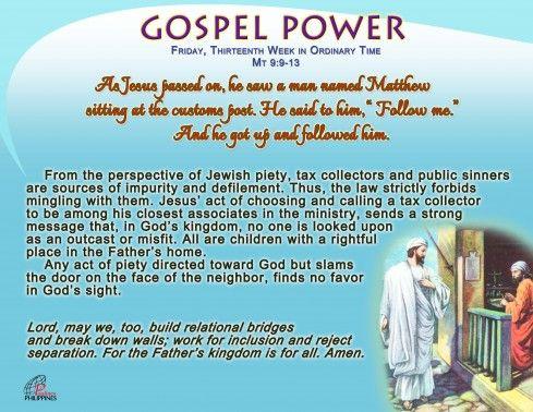Gospel Power OT 13C – Friday