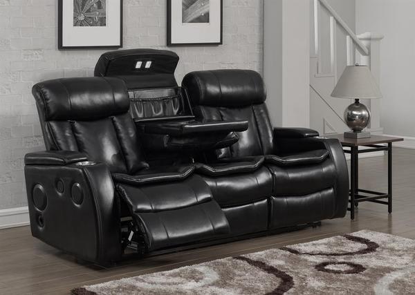 Galaxy Power Reclining Sofa W Usb Port Black Sofa Power