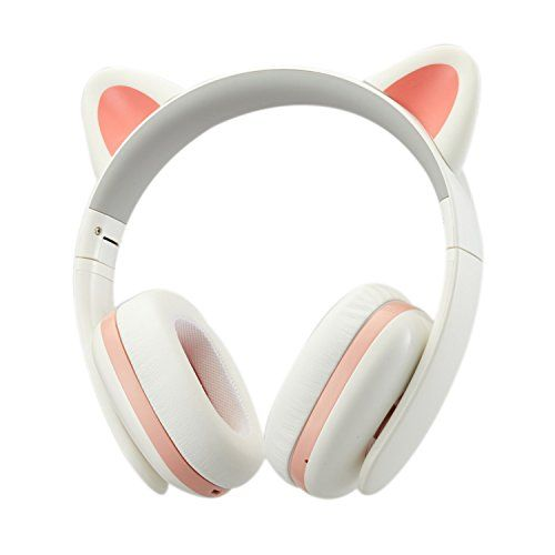 Censi Music Headset Headphone Creative Cat Ear Stereo Overear Game Gaming  Bass Headset Noise Canceling Headband Earphone for ipad PC iphone and  Android ... a36e6cb63b