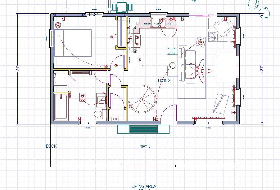 Our 20 x 34 1 1 2 story cabin in michigan floor plans for Two story guest house plans