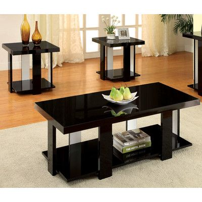 Hokku Designs Eran 3 Piece Coffee Table Set Coffee Table 3 Piece Coffee Table Set Living Room Table Sets