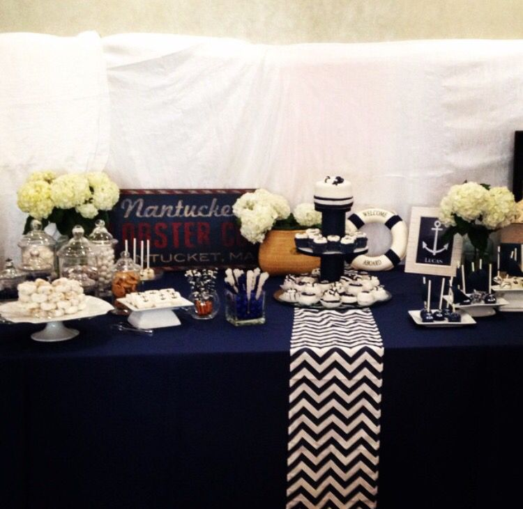 Nautical Theme Baby Shower By House Of Frost Miami Fl Cakes By