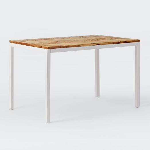 $599 48 X 30 OR $699 60 x 30 Box Frame Chevron Dining Table ...