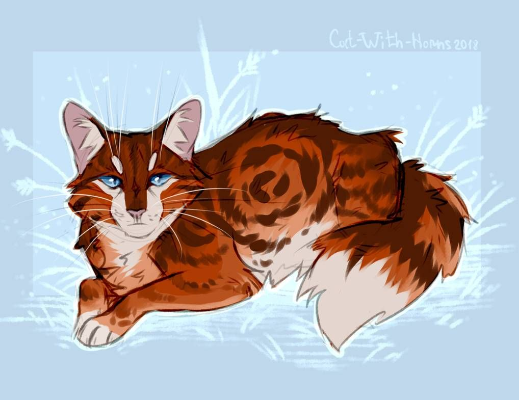 Flametail By Cat With Horns With Images Warrior Cats Art
