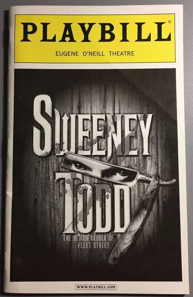 Sondheim's SWEENEY TODD Broadway Playbill 2006 w/Patti LuPone, Michael Cerveris