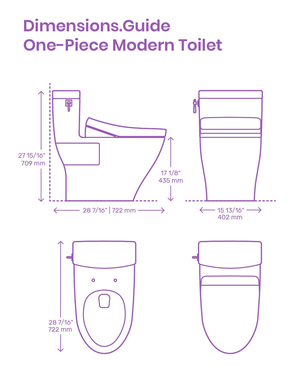 One Piece Modern Toilets Are Sleek Contemporary Fixtures With Curves And Forms Designed To Compliment A Modern Toilet Bathroom Dimensions Bathroom Design Small