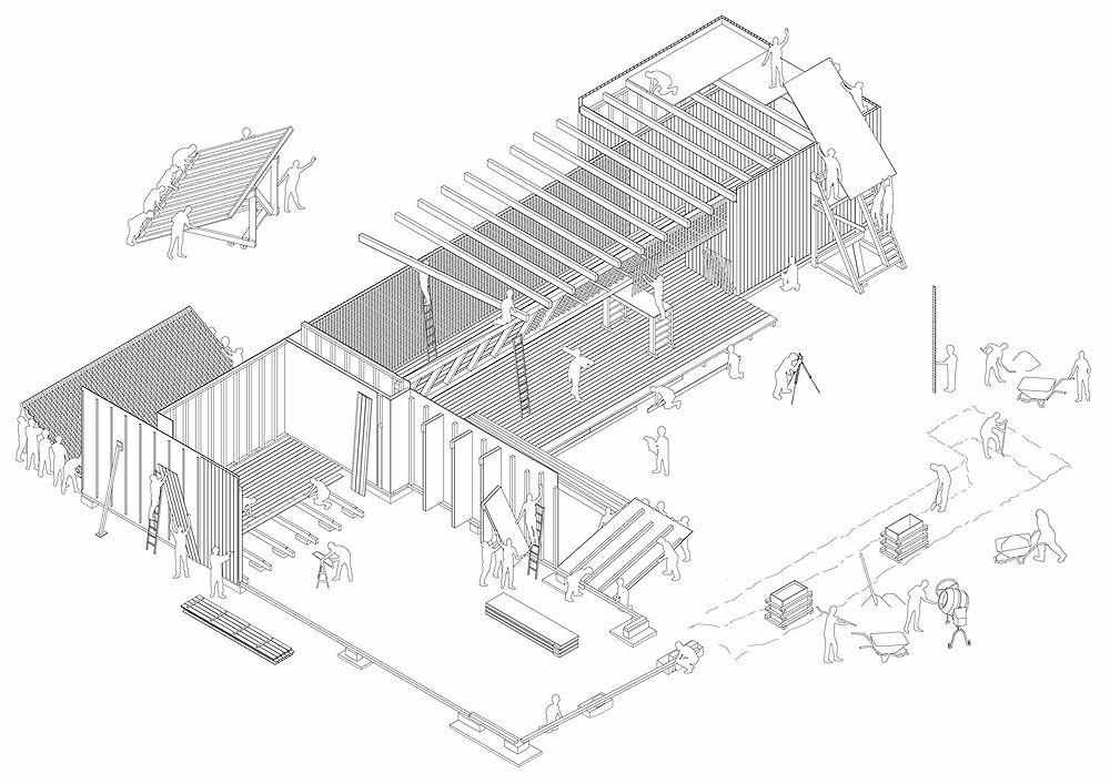 Centro comunitario para refugiados en Mannheim (Alemania) - Arquitectura Viva · Revistas de Arquitectura