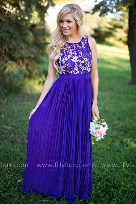 Dreamlover Bridesmaid Dress In Indigo Lace Dresses