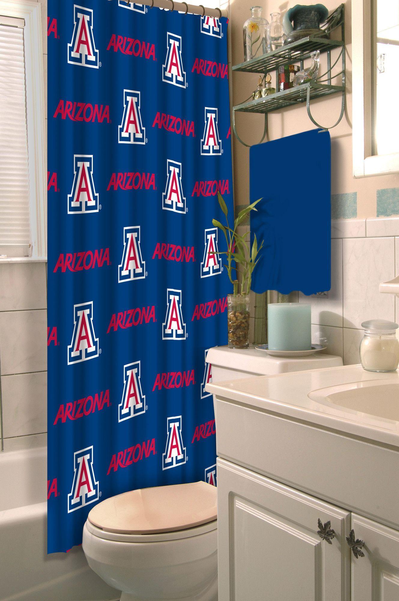Ncaa Single Shower Curtain Shower Curtains Walmart Shower