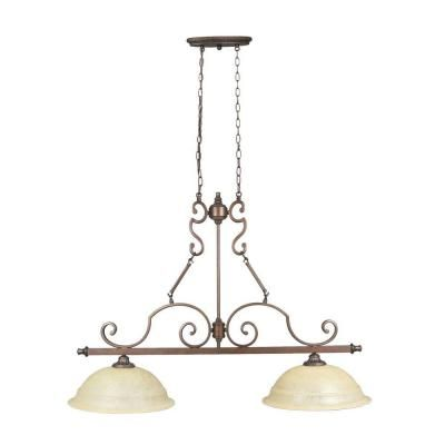 Home Decorators Collection Fairview 2 Light Heritage Bronze Ceiling Kitchen Island Light 14703 The Home Depot Kitchen Island Lighting Millennium Lighting Island Lighting