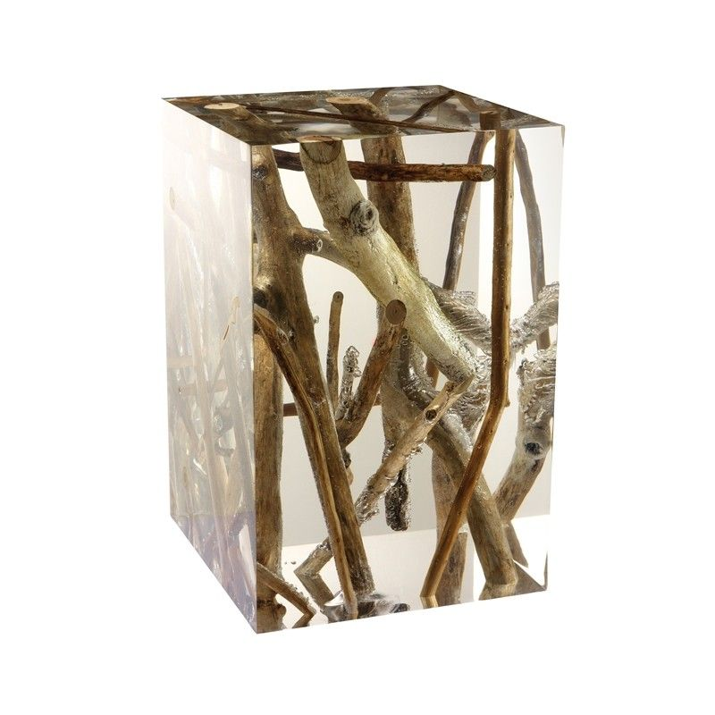 Driftwood  Acrylic Spur Side table  Timothy Oulton Beautifully