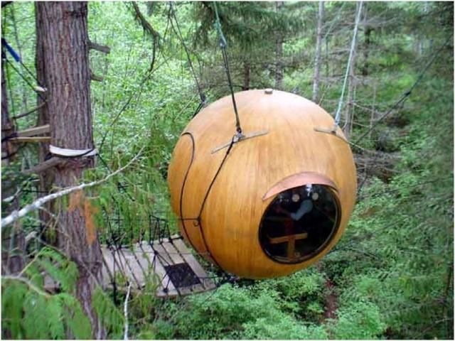 Keycamp tree houses in northern France