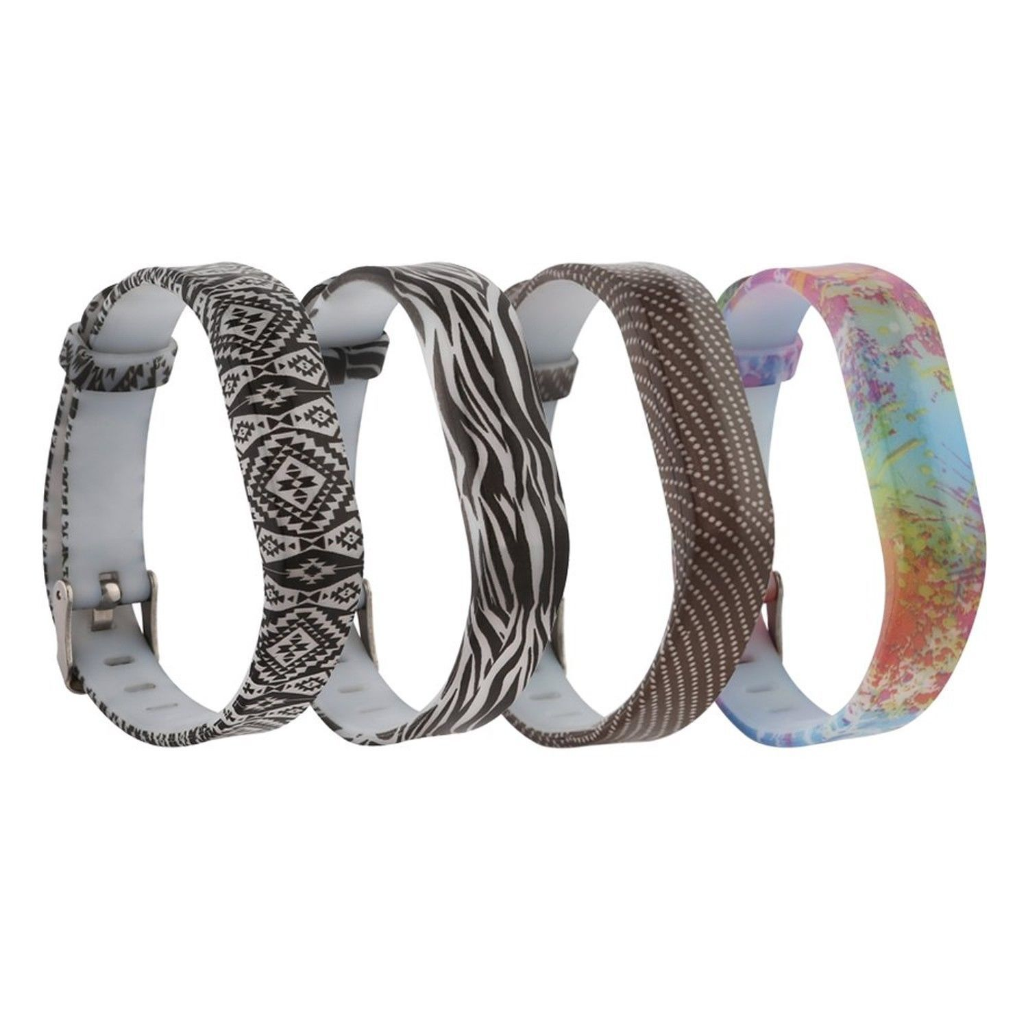 Wild Styles 4 Pack Wristband Band Bracelet Strap Accessories For Fitbit Flex 2 Ebay Fitbit Wristband Bracelet Band