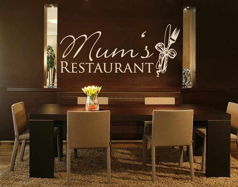 *Braun* - Wandtattoo Mums Restaurant