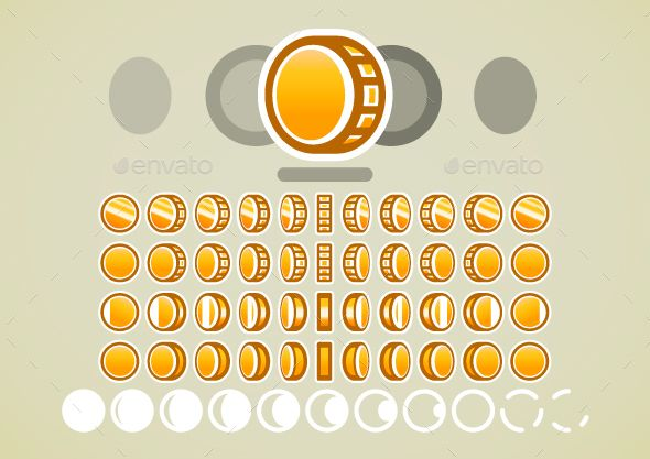Animated Golden Coins Pixel Art Games Golden Coin Pixel Art