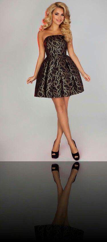 Http Allegro Pl Studniowka Sukienka Rozm 36 Czarna Gorset I4972093807 Html Fashion Cocktail Dress Strapless Dress