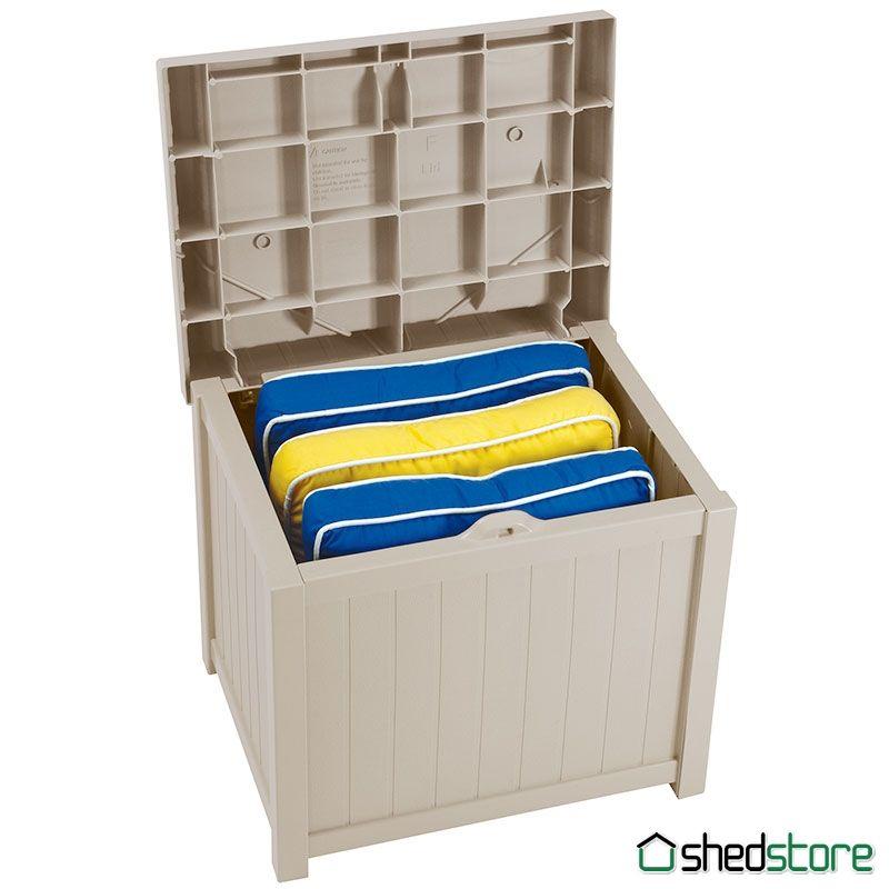 1 11 X 1 6 Suncast Resin Small Deck Box Garden Storage Seat 0 57