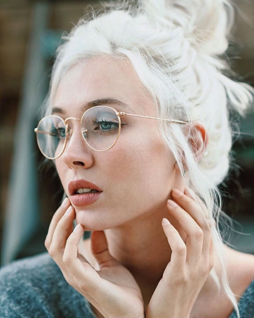 Carolina Porqueddu In Rayban Round Metal Eyeglasses Glasses Fashion Circular Glasses Retro Glasses