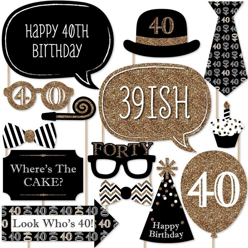 Photo Booth Props For Adult 40th Birthday Decoration Price 7 78