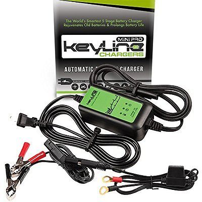 Keyline Chargers Car Battery Charger Automatic Mini Pro Kc 75a Mp 12v 0 75 Amp Car Battery Car Battery Charger Car Battery Chargers