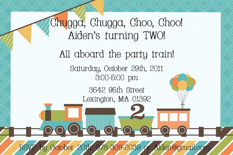 Like The Saying Choo Train Birthday Invitation 1200 Via Etsy