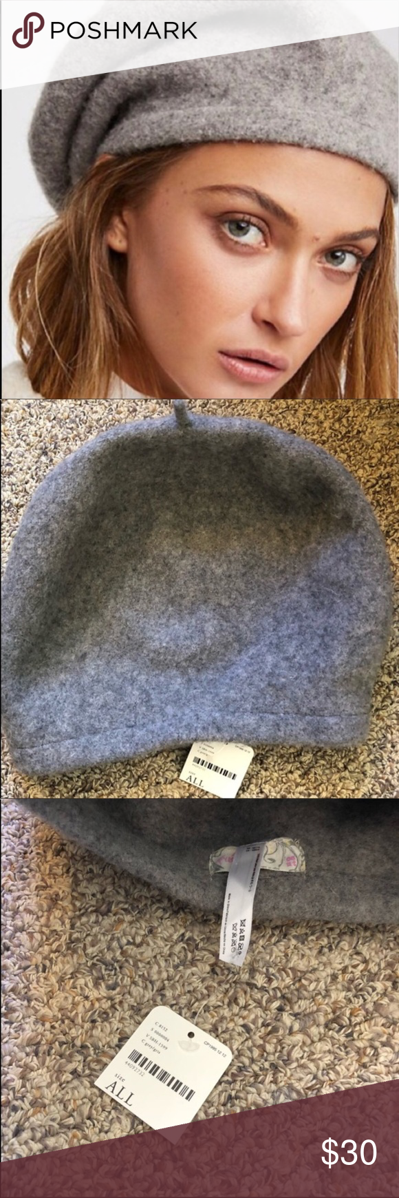 a3bcf9a506a91 Free people bisous slouchy beret Wool  brand new with tags  price firm Free  People Accessories Hats