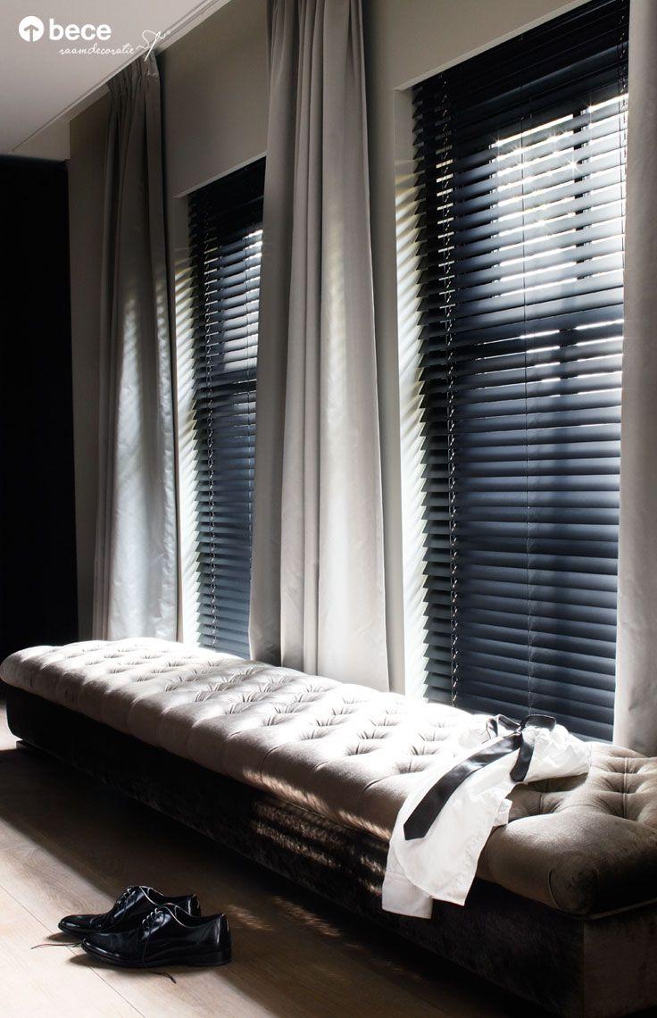 gordijn horizontale jaloezie wwwwoninginrichtingdoetinchemnl donkere gordijnen slaapkamer gordijnen