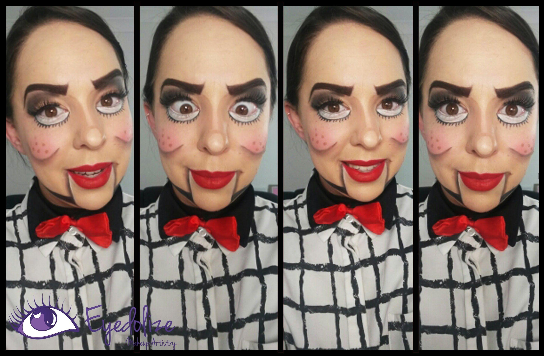 Ventriloquist Dummy Halloween Makeup Tutorial by