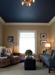 Ceilings Color Ceilings Idea Dream House Wall Color Lighting Brown Blue Ceilings Blue Flats Paintings Color Blue Bedroom Decor Living Room Colors Home