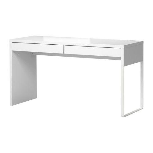 Micke Bureau Blanc 142x50 Cm Bureau Blanc Ikea Bureau Blanc Et Detournement Meuble Ikea