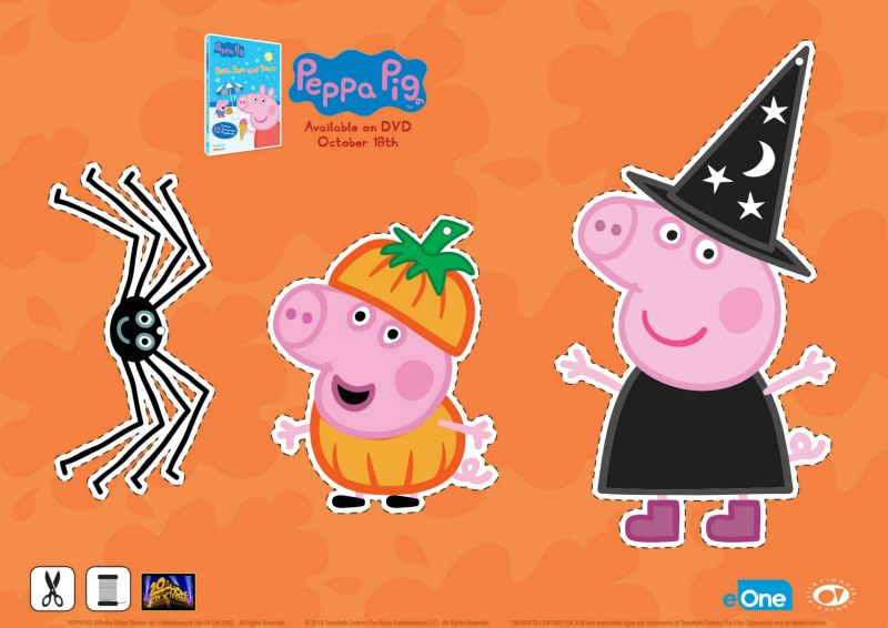 Free Peppa Pig Halloween Decorations Imprimibles