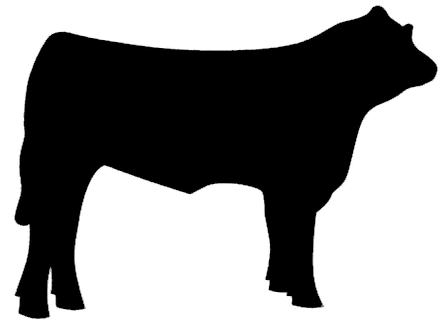 Cow beef. Steer clip art clipart