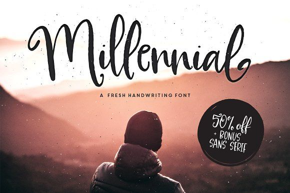 Millennial Script | 50% OFF + BONUS by Callie Hegstrom on @creativemarket
