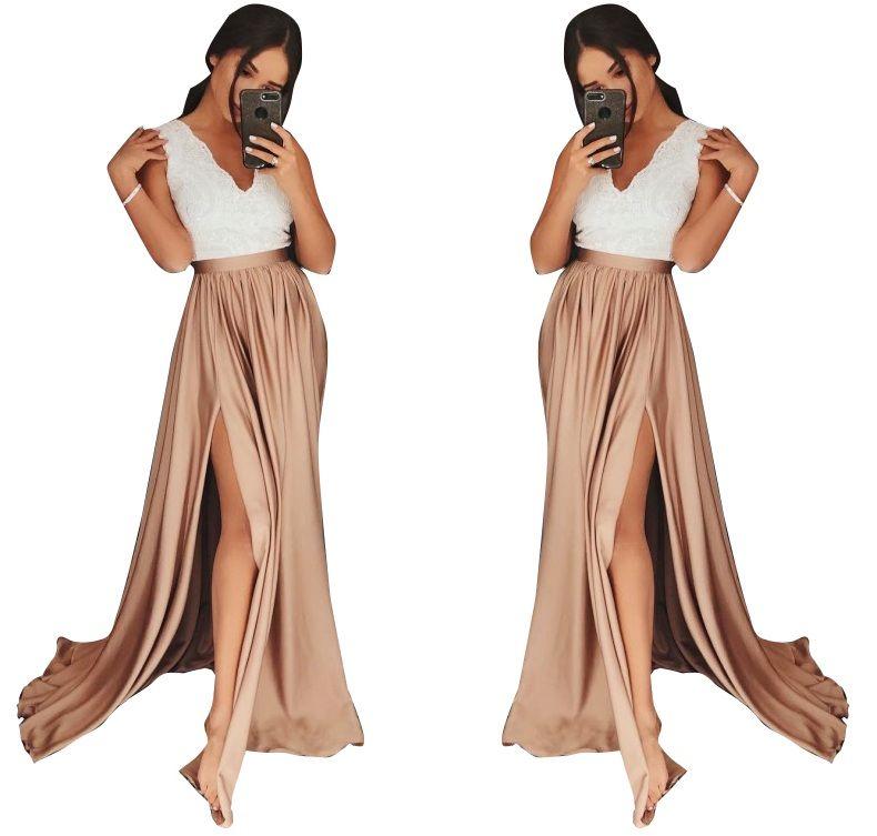 Dluga Koronkowa Sukienka Maxi Wesele Suknia Dresses Fashion Maxi Skirt