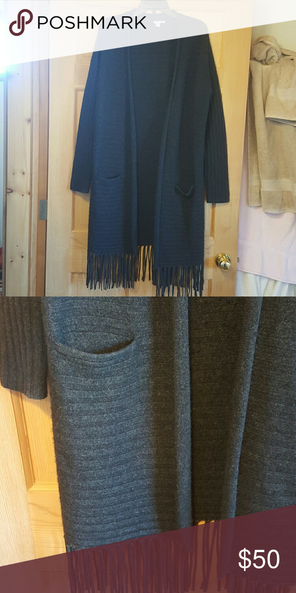 HALOGEN long ribbed cardigan Wool & Cashmere, in perfect condition, worn once. Halogen Sweaters Cardigans