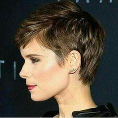 kort frisyr lång lugg