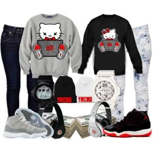 brand new f7a50 0942a polyvore outfits for teenage girls with jordans - Google Search
