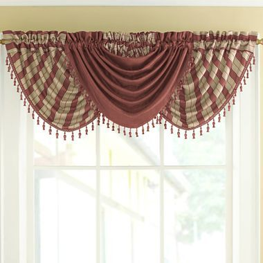 waterfall valance pattern waterfall valances these are in our living room paired with gold and burgandy curtain panels 347