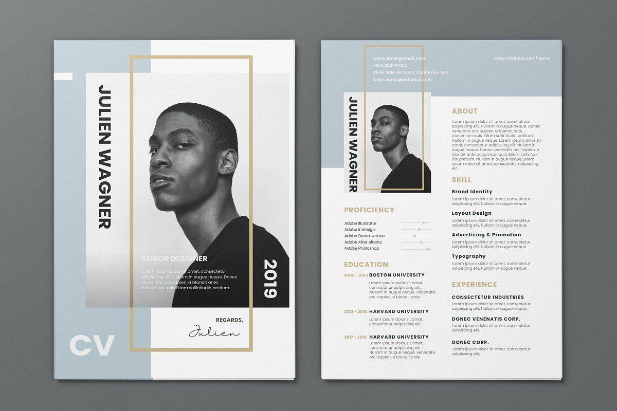 Minimalist Cv Resume Ai And Psd 20 Graphic Design Resume Graphic Design Cv Creative Cv