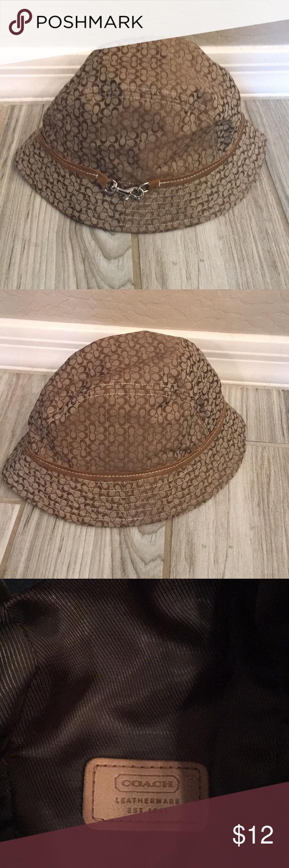 Coach rain hat Signature Coach rain hat with silver accent. Coach  Accessories Hats 14c0cc455c5
