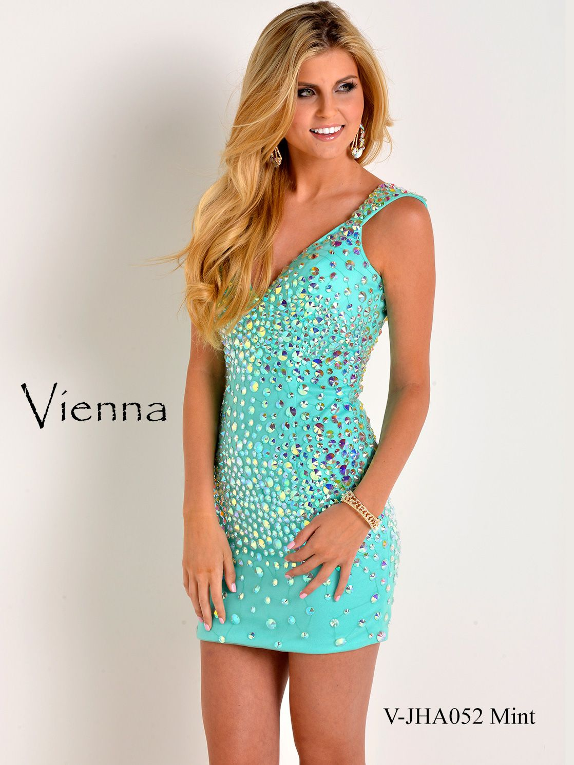 Dance and have fun in this gorgeous Vienna prom dress. This short ...
