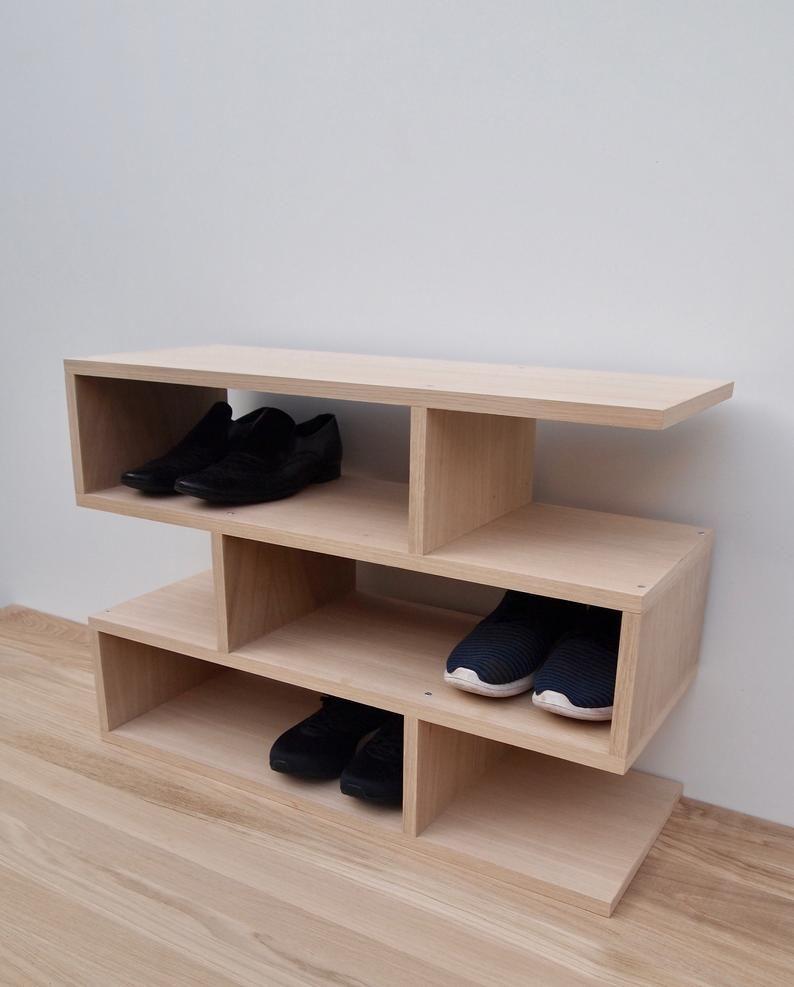 Nouveau 2019 Schuhregal Eiche Shoe Shelf Oak Shoe Rack Oak Schuhregal Holz Avec Images Etagere Chaussures Plateau Chene Chene