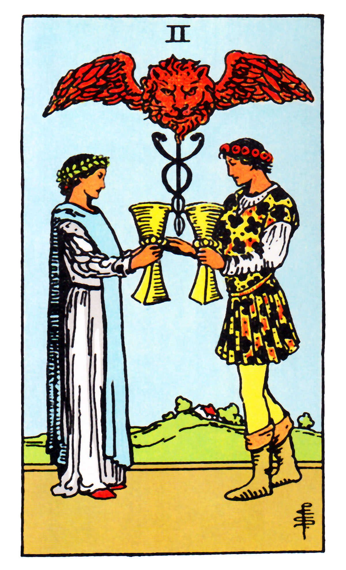 0589bcf75fc13 Two of Cups ~ Rider Waite Card Reading