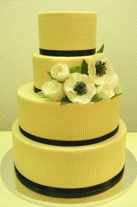 Ribbed Fondant | Wedding Cakes | Pinterest | Cake, Wedding cake and ...