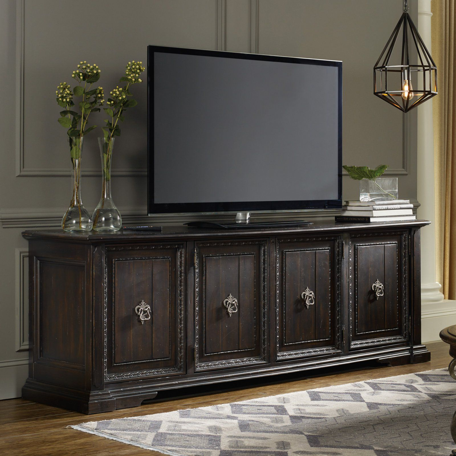Hooker furniture treviso 4 door entertainment console