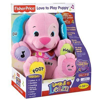 Fisher Price Laugh Learn Love To Play Puppy Pink By Fisher Price